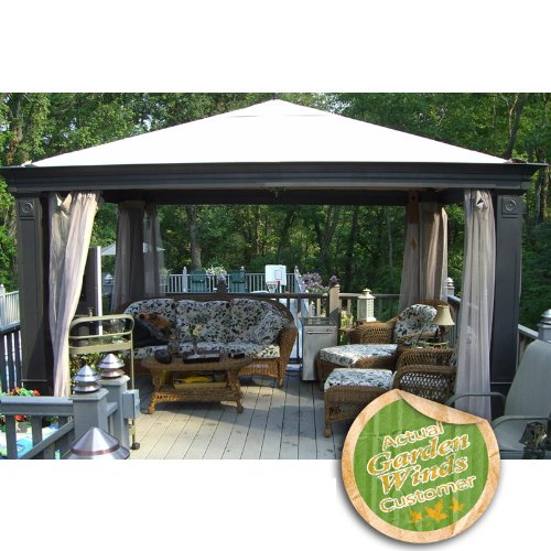 Garden Winds Tiverton (Series 3) Replacement Canopy and Netting - RipLock 350