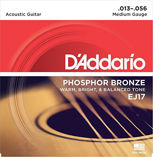 DAddario EJ17 Acoustic Guitar Strings Medium 13-56 - Two Pack
