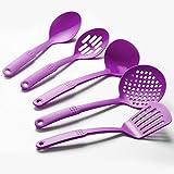 Cook's Corner 5-Piece Nylon Kitchen Utensil Set (Purple)
