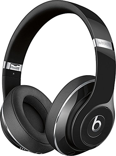 Beats Studio2 Wireless Bluetooth Over-Ear Headphones with Iconic Beats Sound, Built-in Mic, Dual-mode Adaptive Noise Canceling, Built-in Rechargeable Battery, On/Off Switch, USB, Gloss Black
