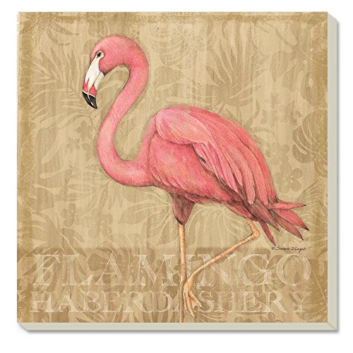 (Counter Art Flamingo at Rest Absorbent Coasters, Set of)