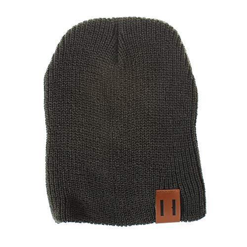 Headgear Denim Cap (Sameno Mom & Baby Family Hat Baby Kids Boys Girls Solid Color Knited Hat Woolen Headgear Cap (Baby, Green))