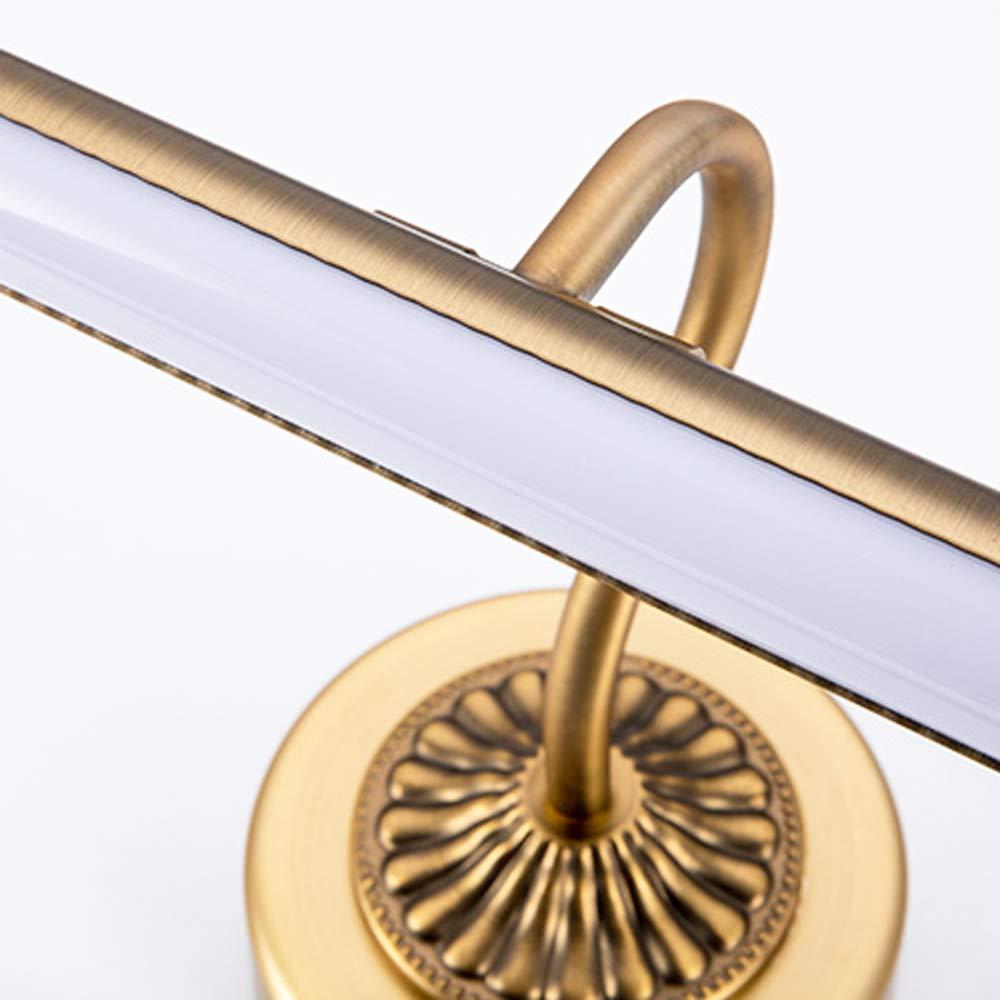 10W Modern LED Metall Spiegelleuchte Spiegellampe Wandleuchte Badezimmer Make Up Spiegel Licht Wasserdicht Beleuchtung Antibeschlag Wandlampe f/ür Badzimmer Arbeitszimmer Kaltes Licht//Antikes Messing