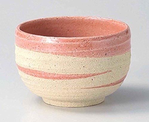 Pink 5.3inch Set of 5 Large Rice Bowls Ceramic Made in Japan