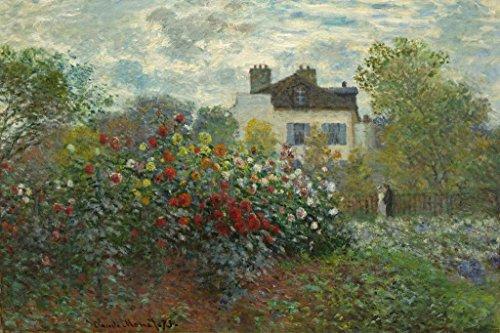 Claude Monet Artists Garden at Argenteuil Art Print Poster 24x36 inch