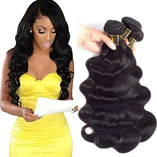 QTHAIR 10A Peruvian Virgin Hair Body Wave 4 Bundles 14 16 18 20 inch 400g Natural Color PeruvianBody Weave Virgin Hair Wavy Human Hair
