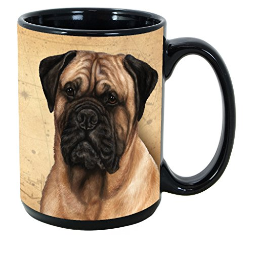Bullmastiff Mug - Imprints Plus Dog Breeds (A-D) Bullmastiff 15-oz Coffee Mug Bundle with Non-Negotiable K-Nine Cash (bullmastiff 043)