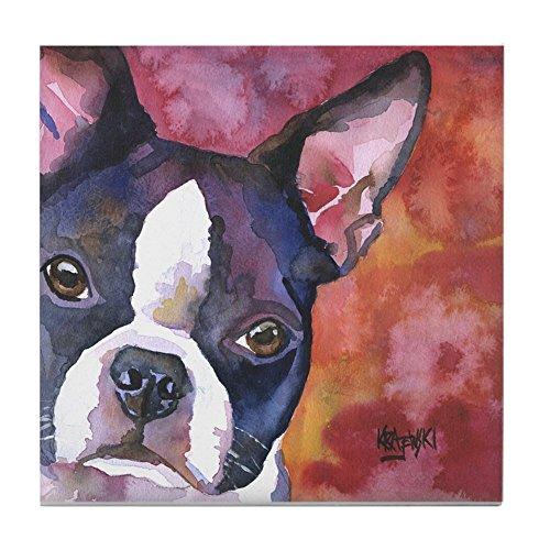 CafePress - Boston Terrier #1 - Tile Coaster, Drink Coaster, Small Trivet