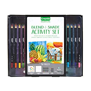 Crayola Blend & Shade Activity Set, Adult Coloring Art Set, Mothers Day Gifts for Mom, 40 Pieces