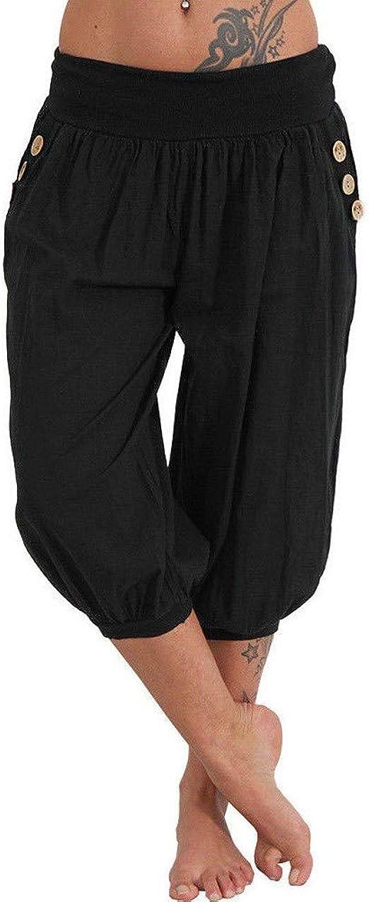 Ropa De Mujer Senoras Pantalones Tres Cuartos Elastico Capri Pantalones Cortos Para Mujer Recortada Nuevo Ropa Calzado Y Complementos Aniversarioqroo Cozumel Gob Mx