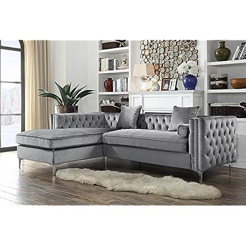 Velvet Sectional Sofa Amazoncom