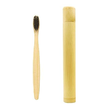One Piece bambootravel Tubo + un paquete negro de almacenamiento de cepillo de dientes cepillo de