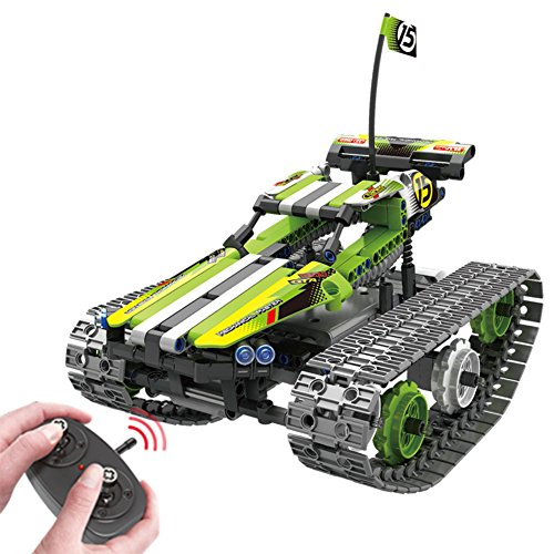 BIRANCO. Remote Control Car for Boys - RC Tracked Racer Building Blocks Set Kit, Fun, Educational, Learning, STEM Toys for Kids Age 8, 9, 12, 13 and 14 Year Old Boy Gift Ideas -