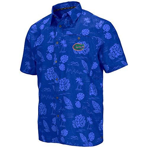 - Colosseum Mens Florida Gators Honolulu Camp Shirt - L