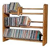 The Wood Shed 301 U Solid Oak CD Rack, Unfinished