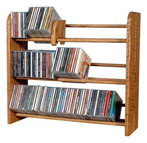 The Wood Shed 301 Solid Oak CD Rack, Honey