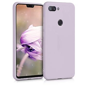 kwmobile Funda para Xiaomi Mi 8 Lite - Carcasa para móvil en TPU Silicona - Protector Trasero en Lila