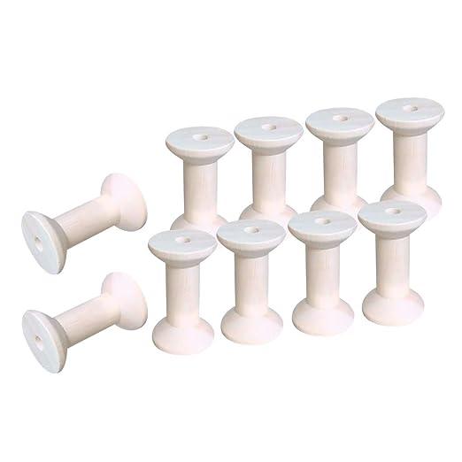 Magideal 10/piezas bobinas de hilo vac/ío Natural de Madera Bobinas Herramientas para coser 28/x 21/mm