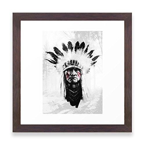 Society6 Native American Framed Print Conservation Walnut MI