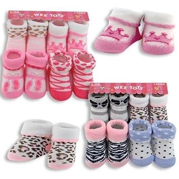 a5c719ec4119 Amazon.com   Baby Girl 4- Pack Socks Gift Set~Boxed~Baby Shower and Newborn  Gift   Baby