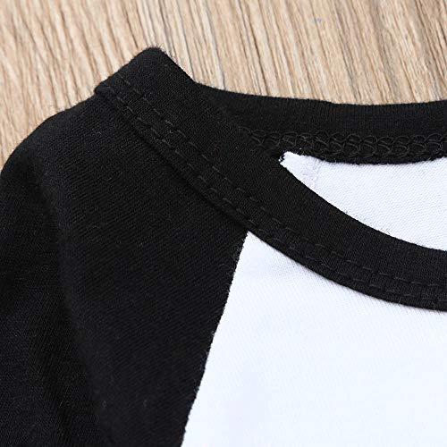 Fille Christmas Longues Enfants Deguisement Noël Treillis Manches De Accessoires Pulls Anniversaire Noir Lettres Pantalon Angelof Cadeau Costume Tailleur Vetement Hiver OCZy0X