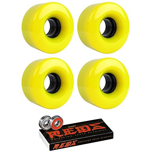 ゆるくりんご記念日スケートボードクルーザーWheels 54 mm x 32 mm 83 a 012 CイエローBones Redsベアリング