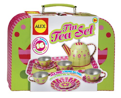 ALEX Toys Tin Tea Set (Tea Set For Toddlers)