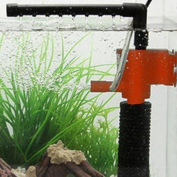 Hrph Mini 3 en 1 Multi-función de Acuario Purificador de Agua del Tanque de Calidad Filtro: Amazon.es: Hogar