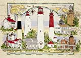 "Lighthouses of New Jersey Jigsaw Puzzle by Donna Elias 24"" X 18"""