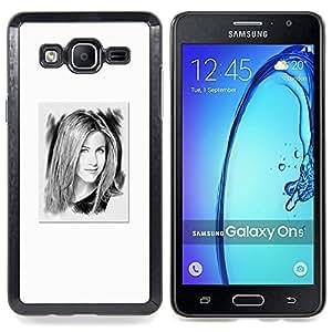 Stuss Case / Funda Carcasa protectora - Retrato Blanco Hollywood Tv - Samsung Galaxy On5 O5
