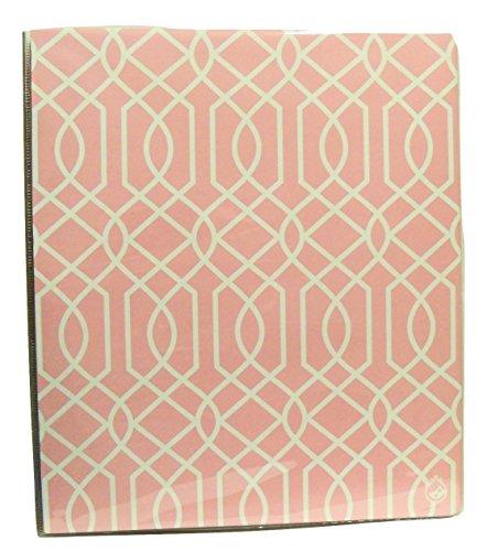 "Carolina Pad Studio C 1"" O-Ring Vinyl Binder with Pockets ~ Pattern Play (Pink and White Maze; 10"" x 11. 5"")"
