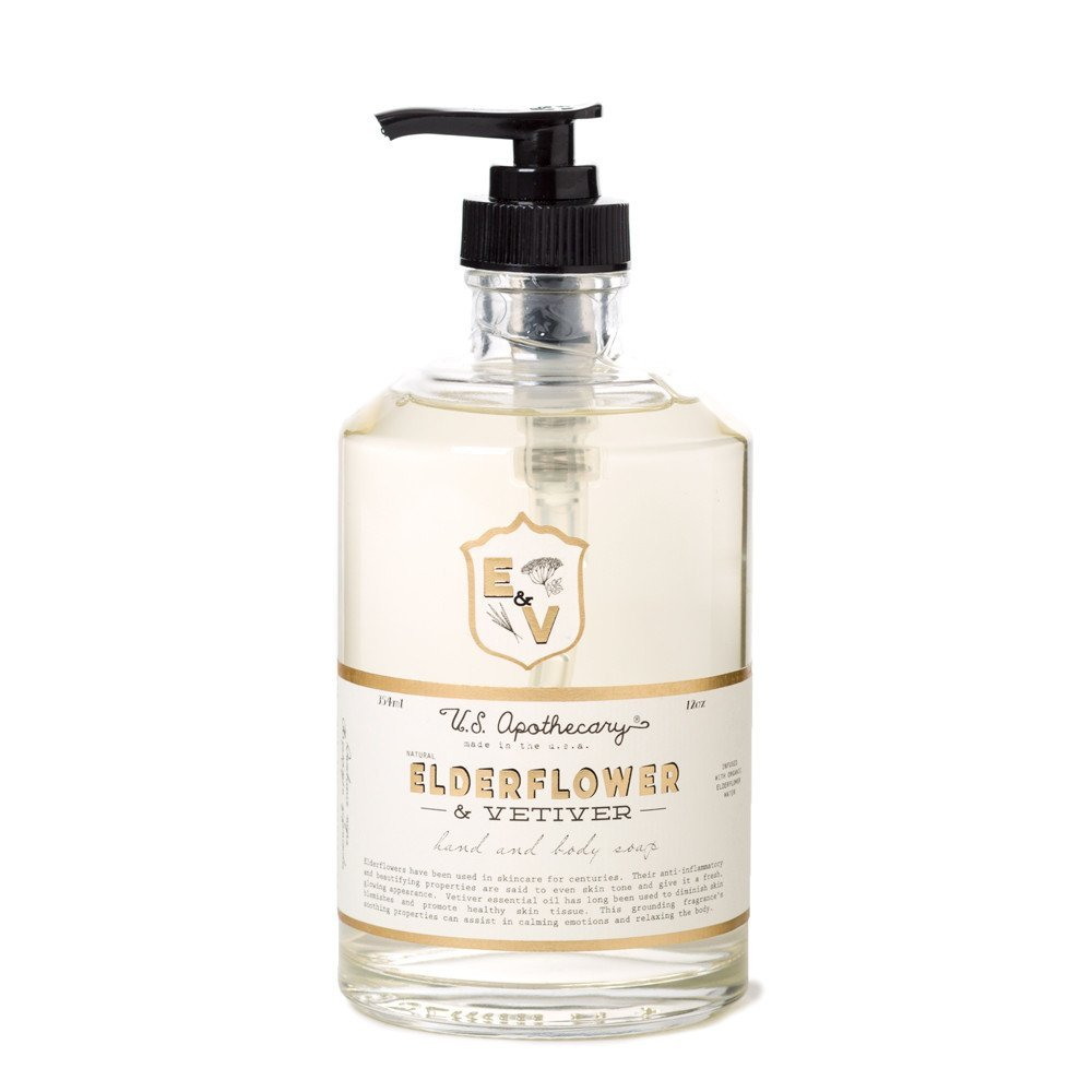 U.S. Apothecary Elderflower and Vetiver Body and Hand Soap