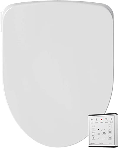Oasis by Bio Bidet | Bidet Smart Toilet Seat in Elongated White with Stainless Steel Self-Cleaning Nozzle