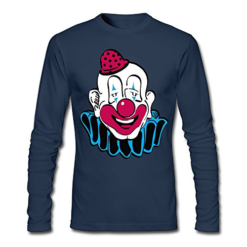 Clown With A Red Hat Men's Tee Shirt,Long Sleeve Under Shirt Overclothes For Man