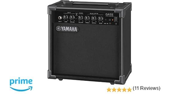 Yamaha GA15II - Amplificador con transistor, color negro: Amazon.es: Instrumentos musicales