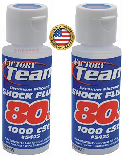Team Associated 2 Pack 80 Weight Silicone Shock Oil Fluid 5425 traxxas HPI losi