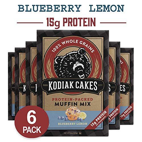 (Kodiak Cakes Power Bake, Protein Muffin Mix, Blueberry Lemon, 14 Ounce (Pack of 6) )