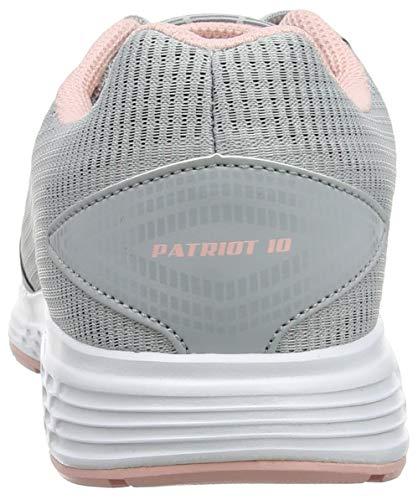 rosa 020 Patriot 10 smerigliato grigio donna da Scarpe medio da Asics corsa grigie UHqgwg