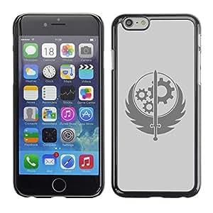 LECELL--Funda protectora / Cubierta / Piel For iPhone 6 -- Rueda Espada sesión --