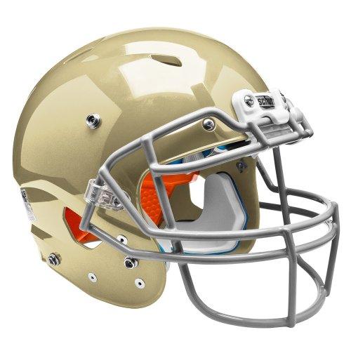 Vegas Gold Football Helmet - Schutt Sports Youth Vengeance DCT Hybrid Plus Football Helmet Without Faceguard, Large, Metallic Vegas Gold
