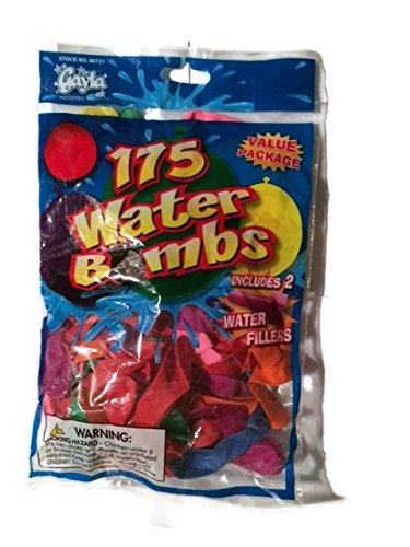 Gayla Water Bombs with 2 Fillers - Pack of 175 - (Set of 3 Packages)