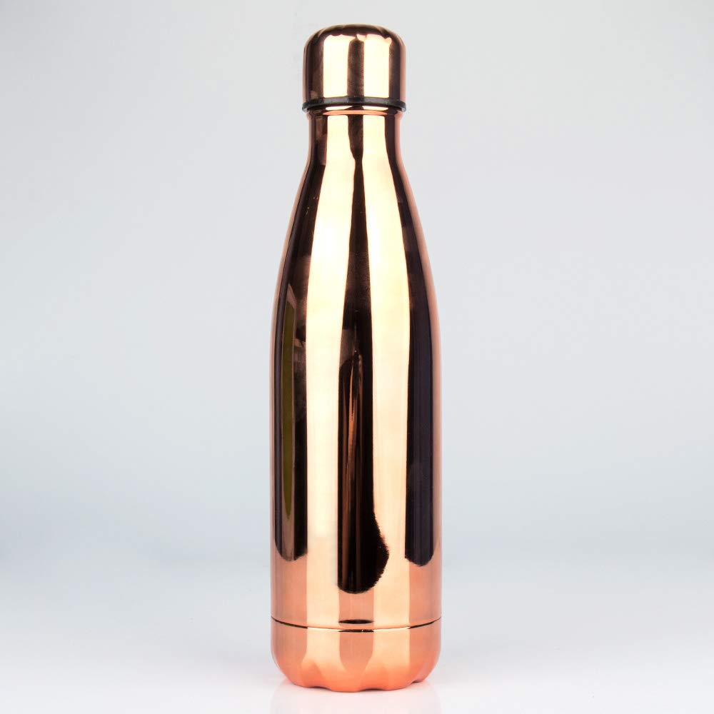 Reisewasserflasche 500 ml Isolierte Einfache Moderne Wasserflasche Edelstahl BPA-frei Doppelwandig Sport Auslaufsicher K/ühle Wasserflasche Isolierflasche Flasche Halten Sie kalte und hei/ße Getr/änke Flasche mit Pinsel
