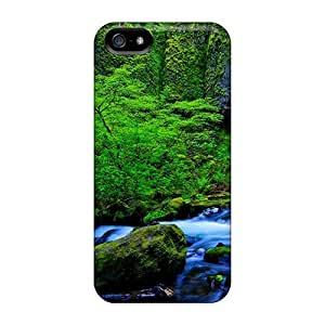 Anti-scratch Case Cover E-Lineage Protective Rainforest Falls Stream Case For Iphone 5/5s