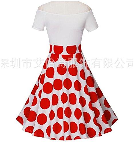 L'épaule De Confortables Femmes Hors Imprimé Accepter Taille Mince Rouge Robe De Cocktail En Forme