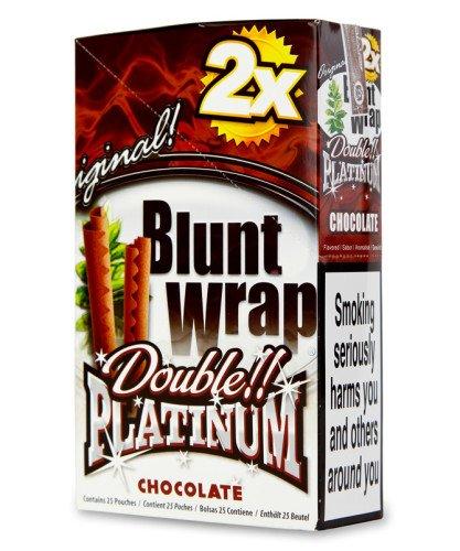 GAR WRAPS 2 PER PACK CHOCOLATE FLAVOR PACK OF 25 (Royal Blunts Wraps)