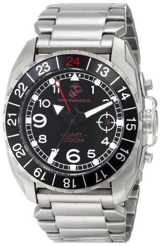 Wrist Armor Men's WA140 C3 Stainless Steel Analog Display Swiss Quartz GMT Watch with Stainless Steel Bracelet