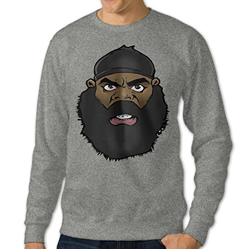 [NUBIA Men's Kimbo Slice Custom Hoodie Ash XL] (Custom Costumes Makers Los Angeles)
