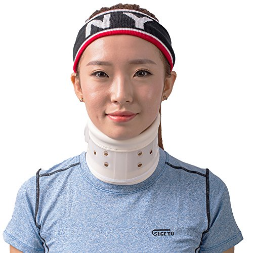 Rigid Hard Plastic Cervical Neck Collar Traction Device Brace Support (L) (Neck Surgery Plastic)