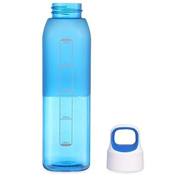 outlife deporte botella de agua libre de BPA plástico portátil 500 ml cuadrado Columnar potable botella