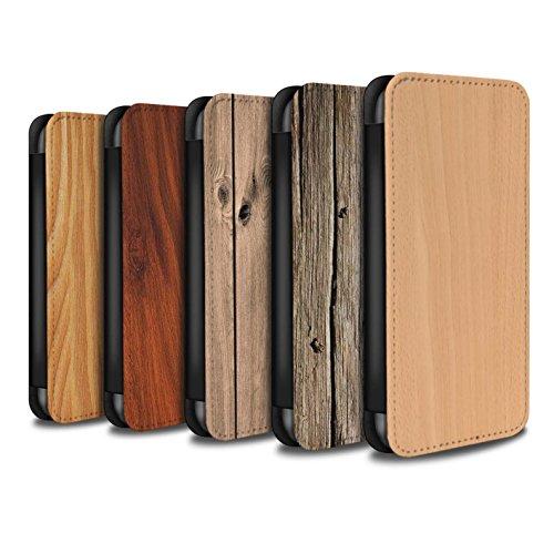 Stuff4 Coque/Etui/Housse Cuir PU Case/Cover pour Apple iPhone 6S / 7 Pack Design / Motif Grain de Bois Collection